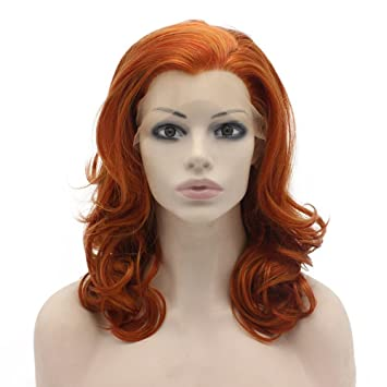 Amazon Com Mxangel Medium Long Wavy Reddish Blonde Synthetic Hair