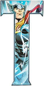 Superhero Letter Metal Wall Decor Marvel and DC Comic Letters (T)