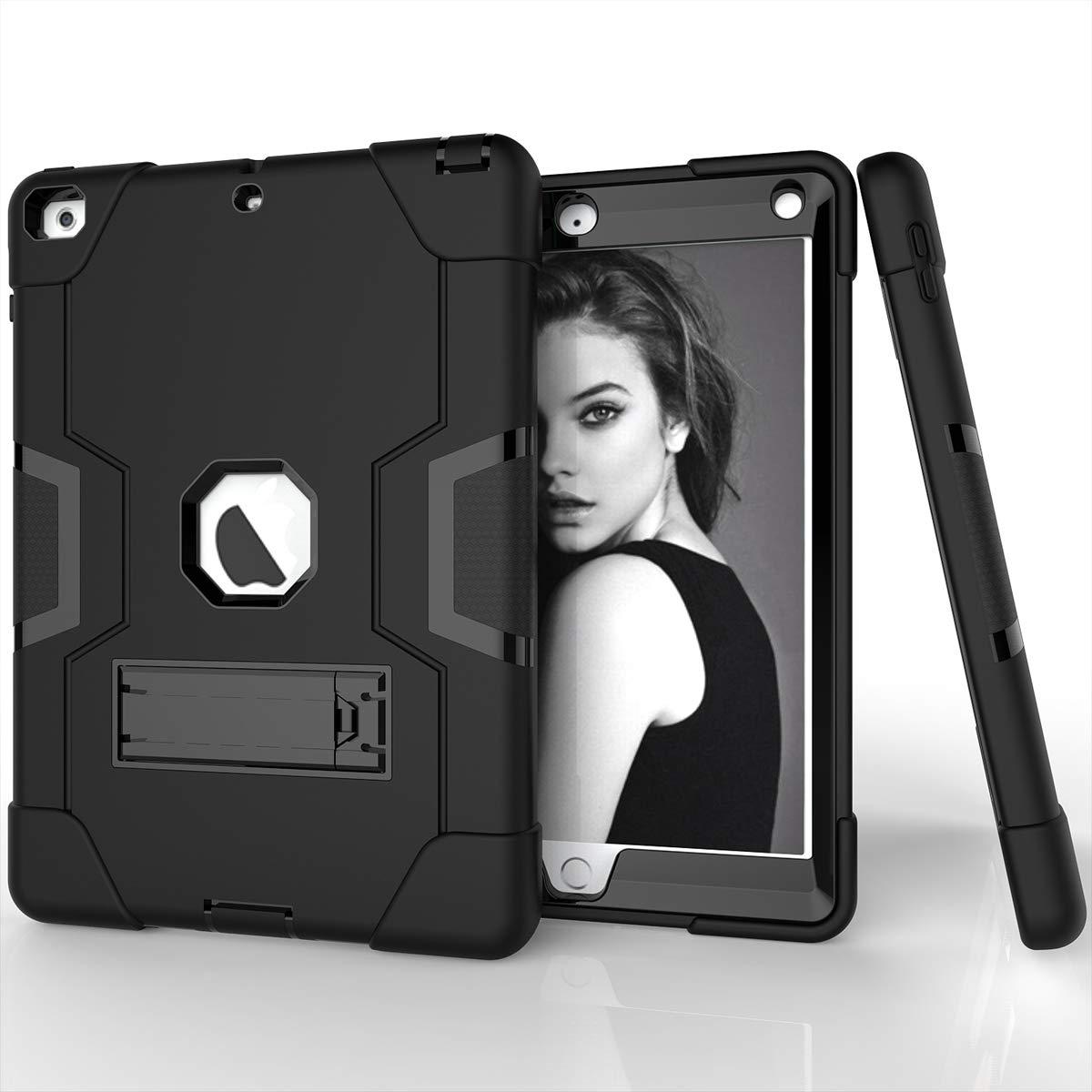 【新作からSALEアイテム等お得な商品満載】 iPad iPad 9.7インチ2017 2018ケース バンパー 優れたバックカバー保護ケース iPad 9.7インチ20172018(アクア+グレー)と優れた互換性, ブラック, ブラック 1581-OQ-795 iPad ブラック B07L77M3MV, koba garden.shop:d13606a4 --- a0267596.xsph.ru