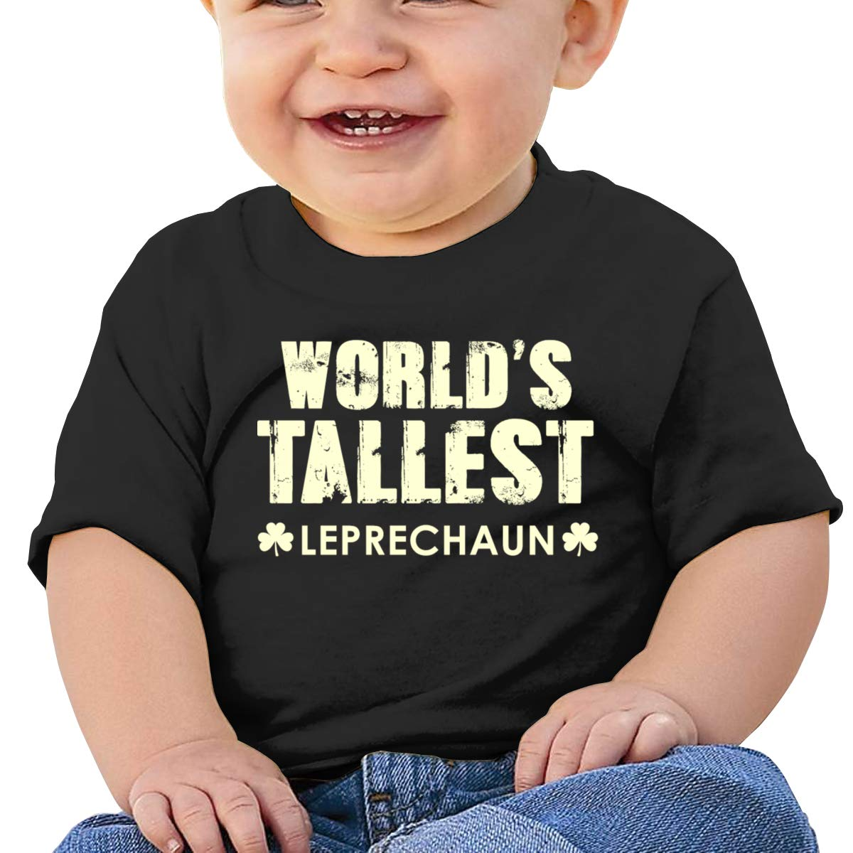 Patricks Day Short-Sleeves Tshirt Baby Boys Qiop Nee Tallest Leprechaun St