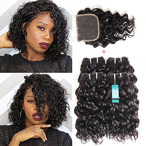 Human Hair Weaves Mqyq #27 Honey Blonde 3 Bundles Malaysian Curly Human Hair With Lace Closure Kinky Curly Human Hair Bundles With Lace Closure Promoting Health And Curing Diseases