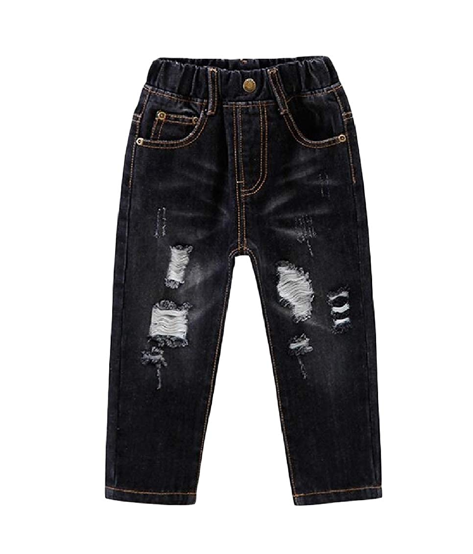 Sweatwater Boys Jeans Classic Distressed Hole Denim Trousers Pants