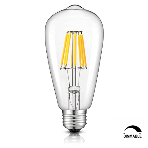 crlight led edison bulb 8w dimmable 4000k daylight neutral white 800lm 80w equivalent