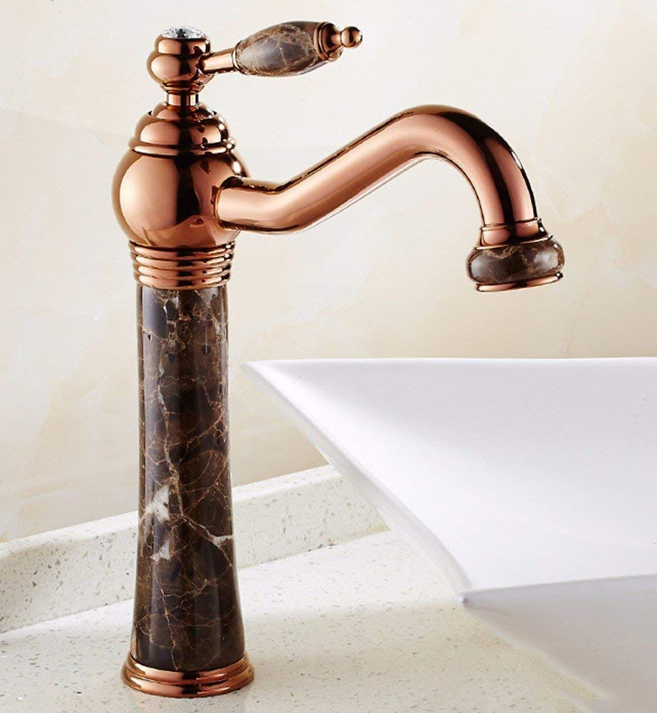 Oudan European style copper structures the basin hot and cold the Jade lengthen water taps