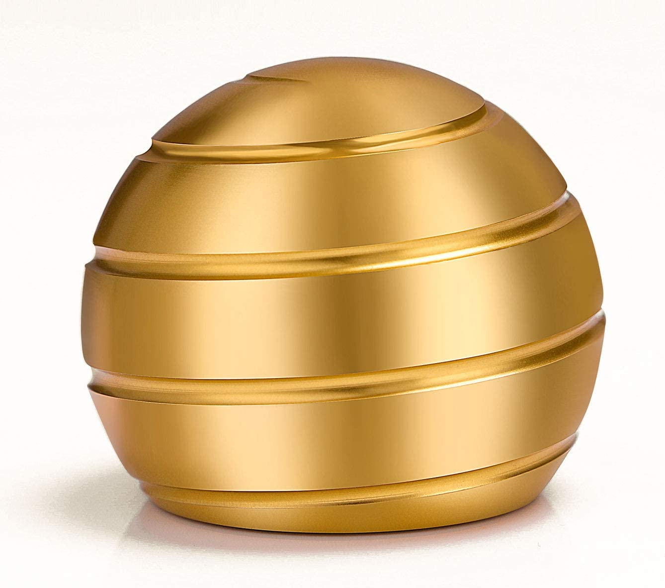 VEFINDOR Fidget Toys for Adults Stress Relief, Desk Toys for Office Conversation Piece, Kinetic Optical Illusion Balls (Gold)
