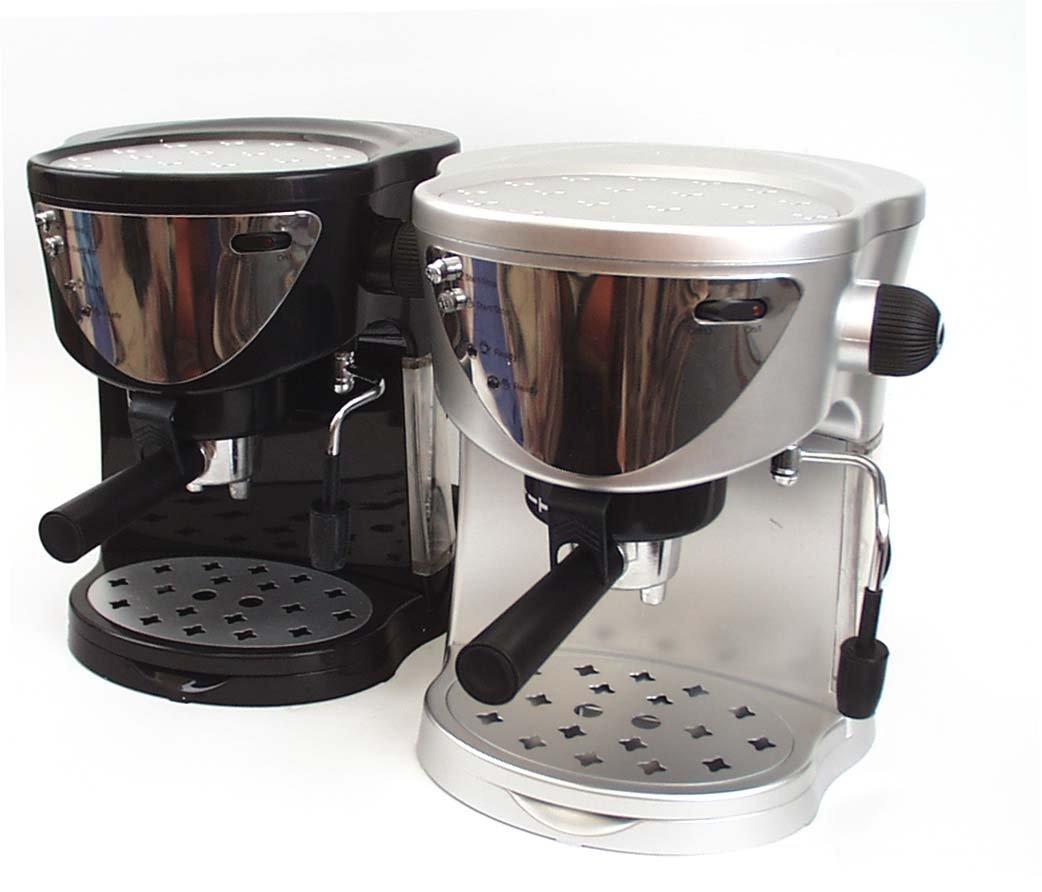 Mia EP1621 - Máquina para café espresso y capuchino, color plateado: Amazon.es: Hogar
