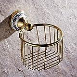 LINA@ Golden copper paper towel bathroom storage basket the basket-style toilet paper holder