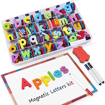 Letras y Números Magnéticos para Niños -216 Letras y 20 Números y ...