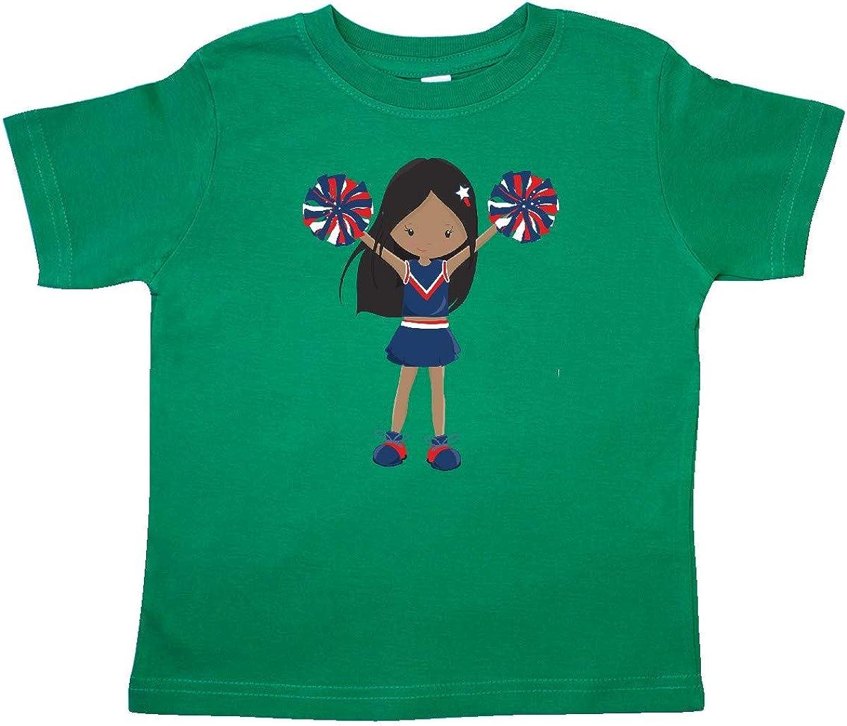 Cheerleaders Blue Uniform Toddler T-Shirt inktastic African American Girl
