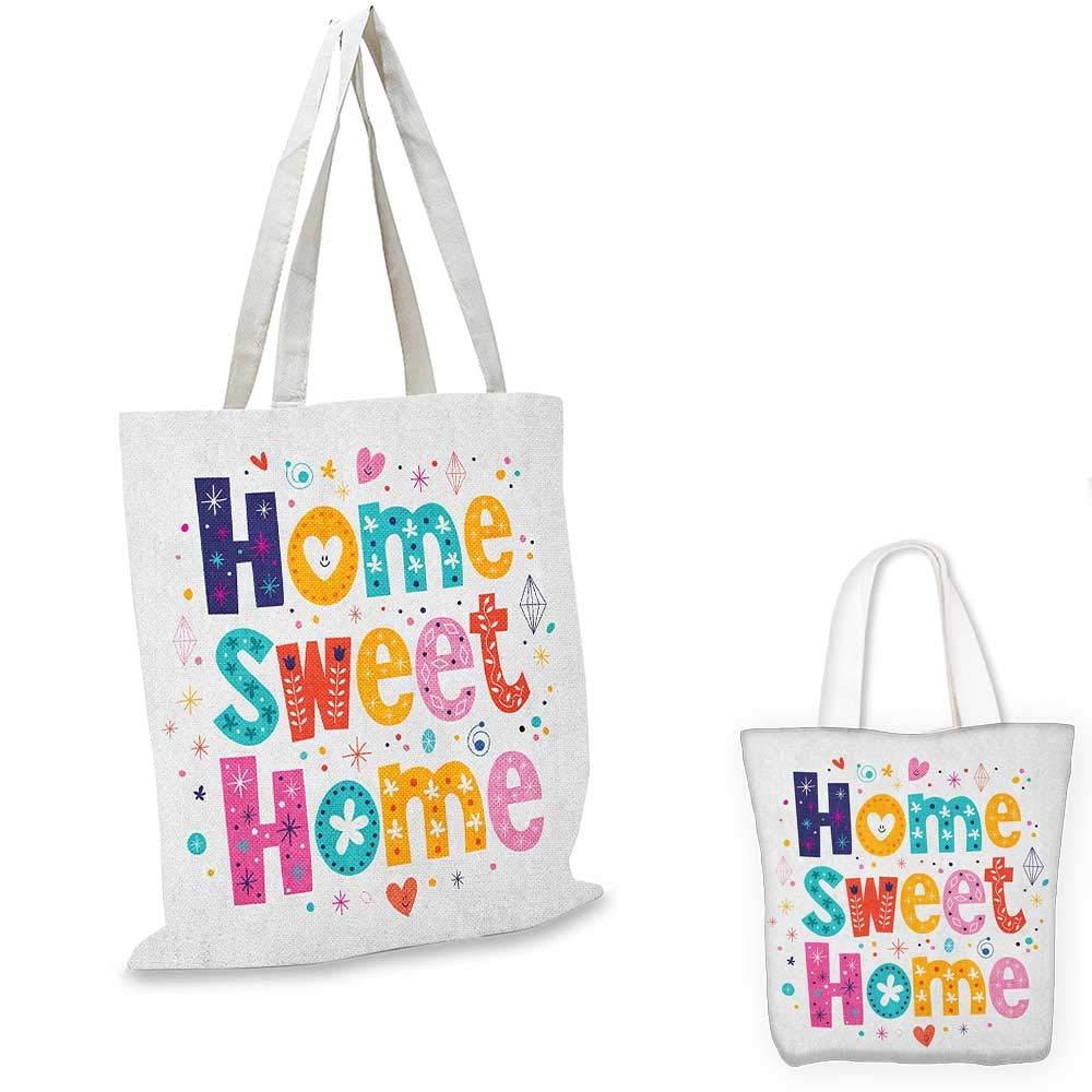 Home Sweet HomeTypography イラスト フローラルエレメントとアートフルハートフィギュア ダークブラウン ベージュ 16