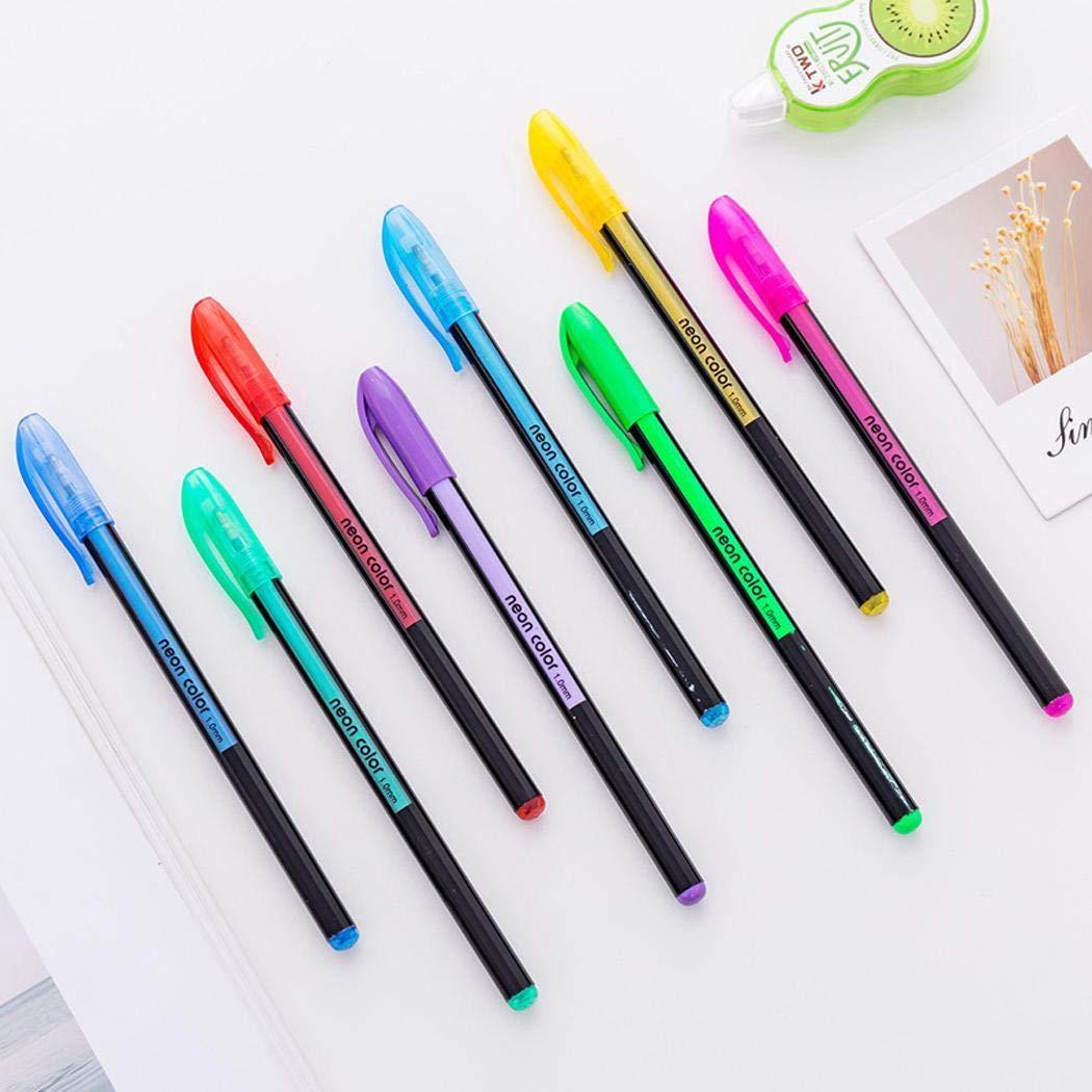 Yagot 12/48PCS Studenten dauerhafte tragbare glatte langlebige Glitter Gel Pen Set Schreibwerkzeug Druckkugelschreiber