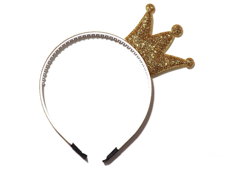 Anna Belen Girls Bella Glitter Crown Headband 684031174291