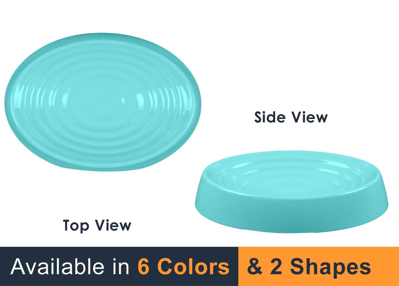 NEW! CatGuru Premium Cat Bowl - Non Slip Flat Cat Food Bowl - BPA Free - Shal...