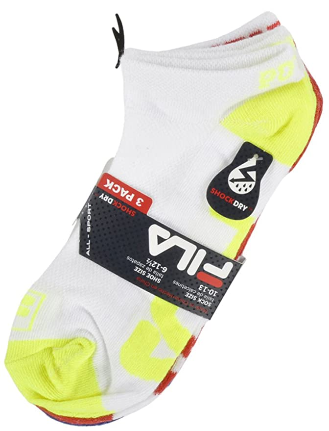 Fila Ankle Socks All-Sport Shock Dry 3-Pack in White at Amazon Mens Clothing store: