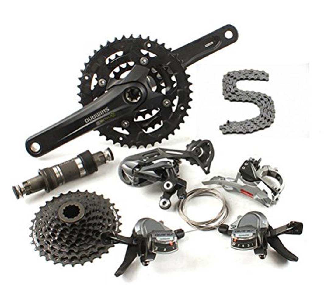 Shimano Alivio M4000 Groupset 9 Speed Fd Rd Fc M4050 Sm Bb51 Sl Diy Your Bicycle Sports Outdoors