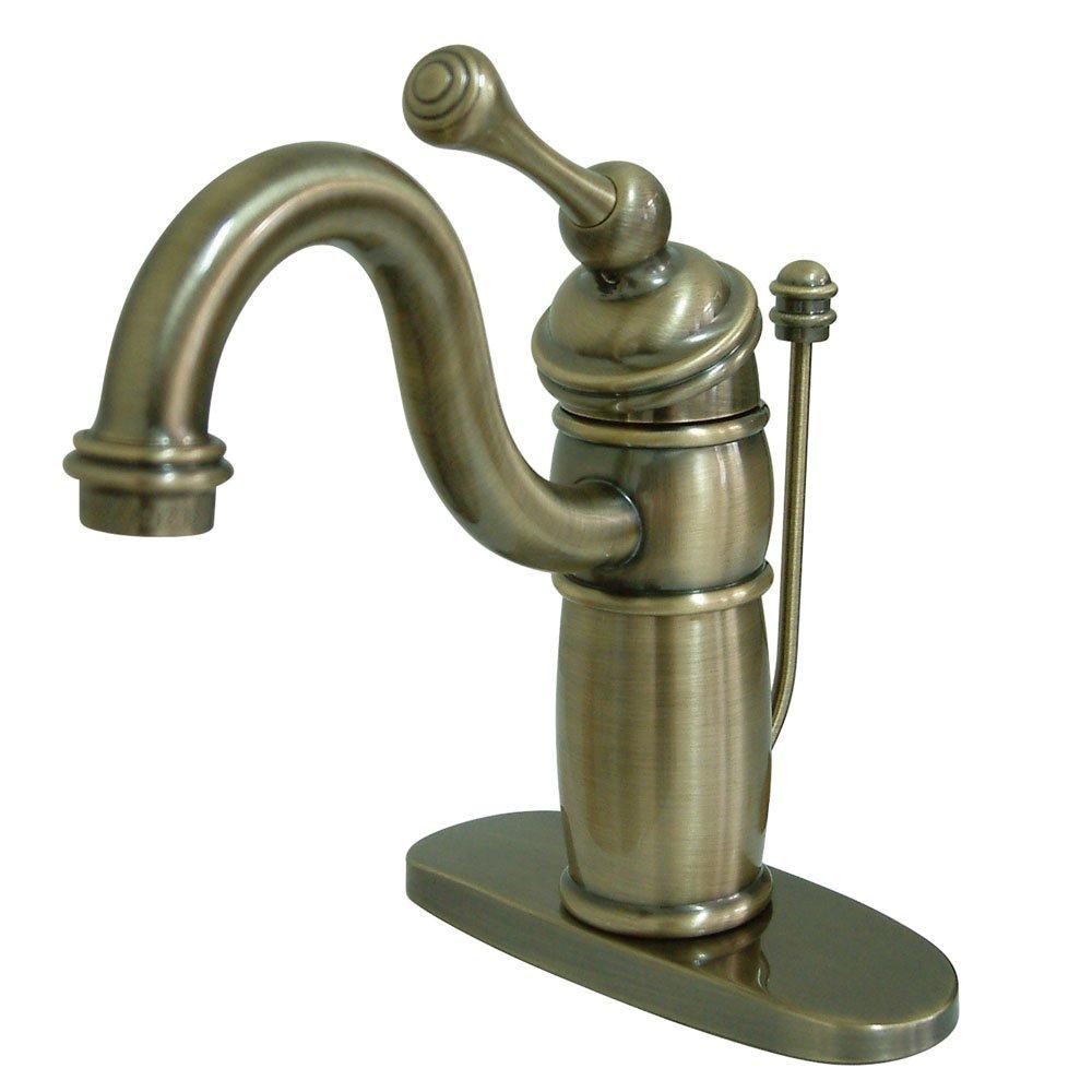 Kingston Brass KB1403BL Victorian Mono Block Lavatory Faucet, 6-Inch, Vintage Brass by Kingston Brass