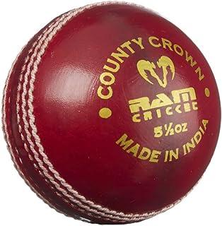 Ram Cricket County Crown Match, Palla da Cricket, 14 oz, colore: rosso, confezione da 6 pezzi
