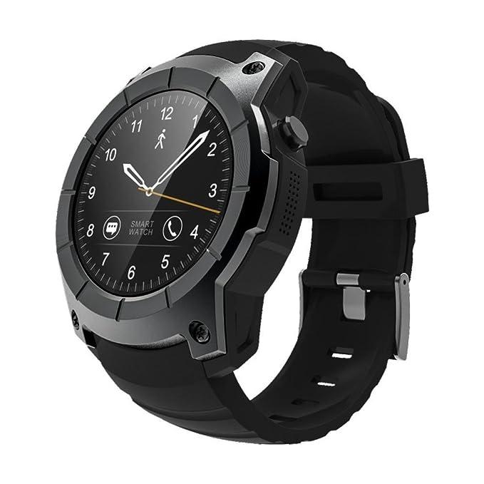 Hombre multifuncional elegante reloj inteligente, Y56 S958 para adultos Heart Rate Monitor Bluetooth reloj deportivo con GPS/presión de aire//LLAMADA ...