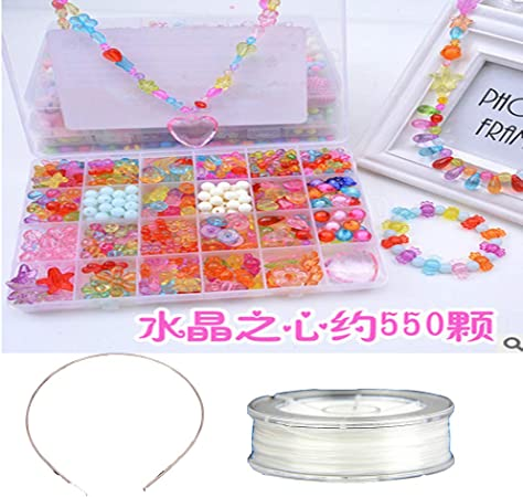 Nicedeal Colorido DIY Beads para Niños Una Caja de Diferentes Tipos y Formas Acrílico Beads Collar y Pulsera Niños Manualidades Herramientas DIY: Amazon.es: Hogar