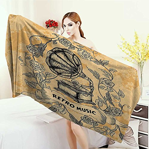 Yoga Mat Towel Vintage Decor Bingo Game with Ball and Cards Pop Art Stylized Lottery Hobby Celebration Theme Highly Absorbent Bath Towel 55
