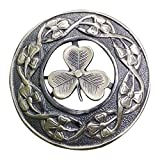 AAR Men,s Scottish Irish Shamrock Kilt Brooch Fly Plaid Antique Finish 3