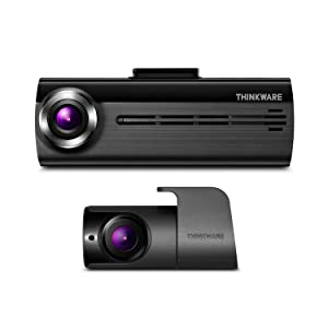 THINKWARE F200 Dash Cam Full HD 1080P with Rear Cam and 16GB MicroSD Included | Optional Parking Mode with Hardwire | Built-in Wi-Fi | Cigarette Power Cable | Supercapacitor | Support 128GB Max