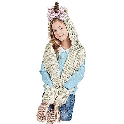 Girls Unicorn cappello con sciarpa a maglia 823dde3728ed