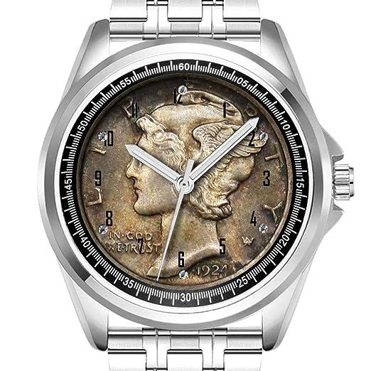 Reloj de Pulsera Personalizado para Hombre, a la Moda, Resistente al Agua, Diamond_785