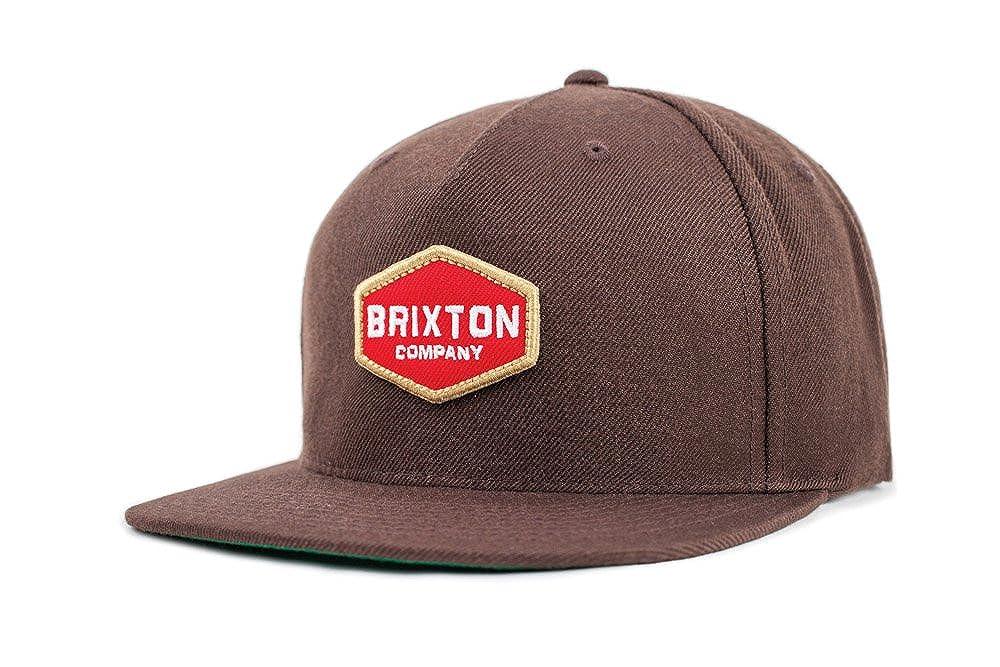 Brixton Mens Obtuse Medium Profile Adjustable Snapback Hat Brown One Size Brixton Young Men' s 00758