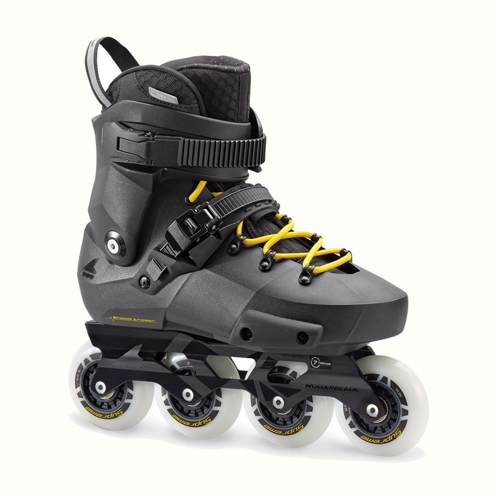 Rollerblade Men's Twister Edge Fitness Inline Skate, Black/Yellow, Size 10.5