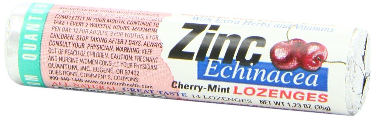 Quantum Health,  Zinc Echinacea Roll, Cherry-Mint, 14 Lozenges (Pack of 6) by Quantum