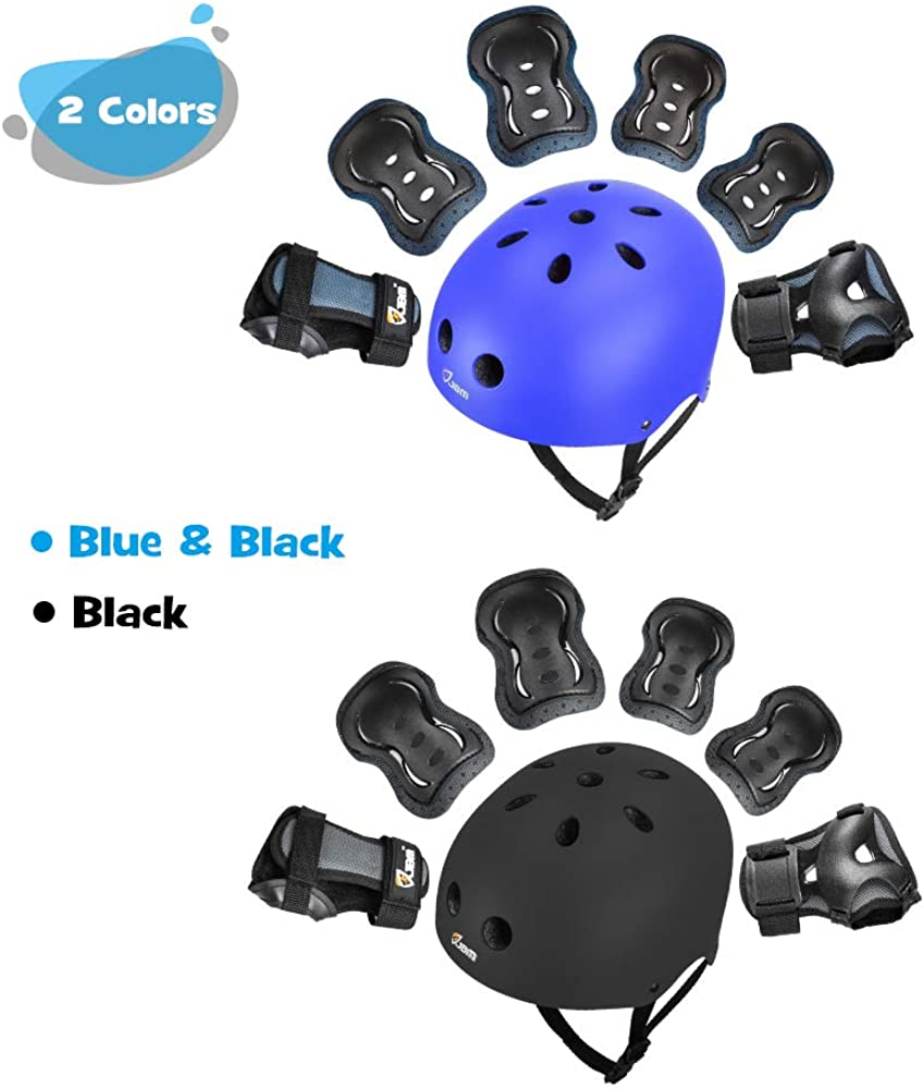 Impact Resistance for your Children Outdoor Activities/' Adventure JBM Kids /& Adults Knee and Elbow Pads with Wrist Guards Protective Gear Set Scooter Cycling Roller Skating Skateboarding Pads Set