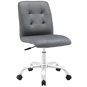 Modway Prim Mid Back Office Chair, Gray