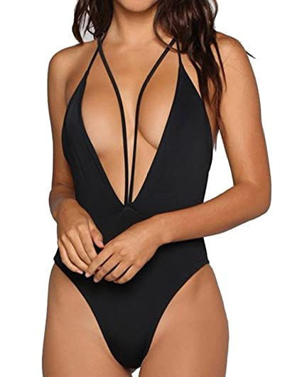 77f549128b956 CROSS1946 Sexy Women Halter Monokini Swimsuits One Piece Backless Bikini S