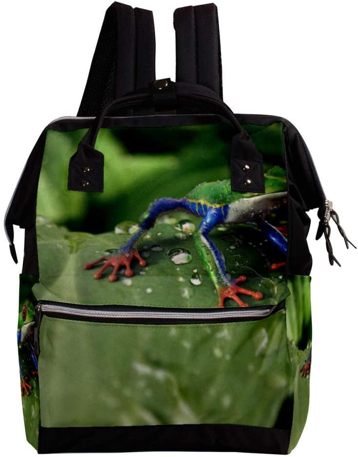 Indimization Greenfrog Casual Daypack Leather Backpacks,Fashion Travel School Bag,College Student Bags for Boys /& Girls Holds 27x19.8x36.5cm//10.6x7.8x14in