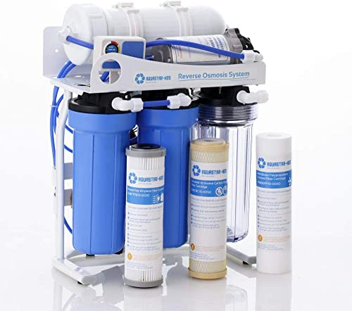 AQUASTAR-H2O 400 GPD 5-Stage Reverse Osmosis RO Drinking Water Filtration System, Tankless for Large Family AS8SYSRONT-x400