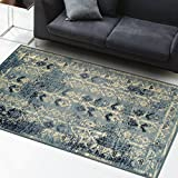 Superior Havoc Collection Area Rug, 10mm Pile Height with Jute Backing, Fashionable and Affordable Rugs, Distressed Vintage Moroccan Rug Design - 4' x 6'