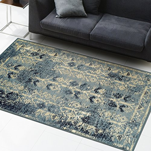 Superior Havoc Collection Area Rug, 10mm Pile Height with Jute Backing, Fashionable and Affordable Rugs, Distressed Vintage Moroccan Rug Design - 4' x 6' by Superior