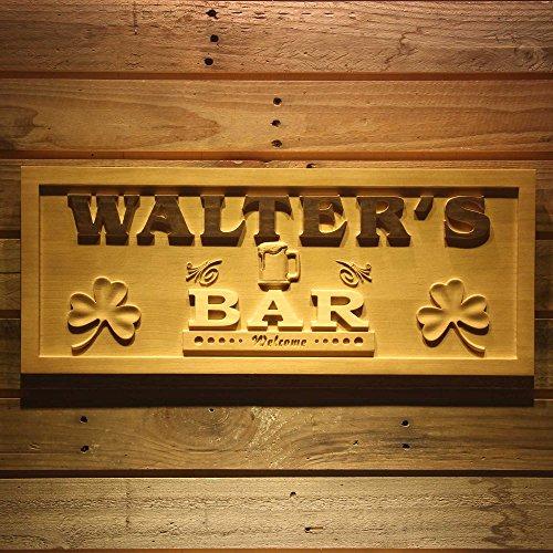 ADVPRO wpa0178 Name Personalized Shamrock BAR Welcome Beer Mug Wood Engraved Wooden Sign - Large 26.75