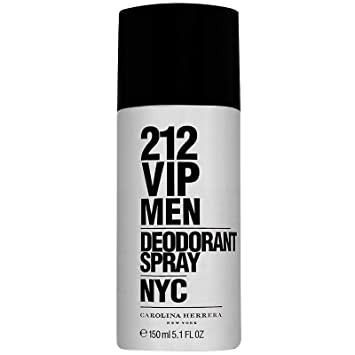 Amazon.com: Carolina Herrera 212 VIP Men NYC Desodorante ...