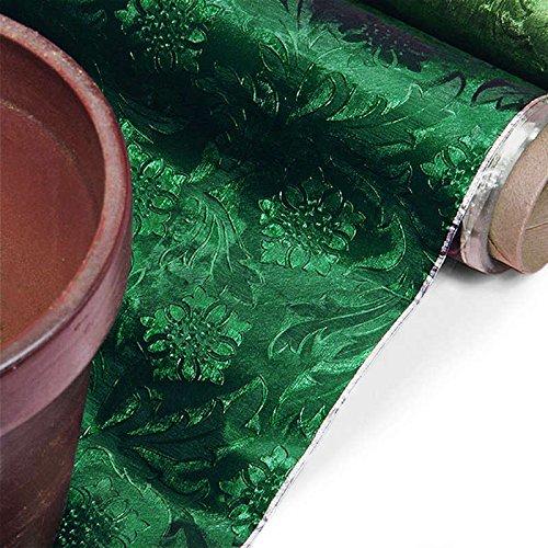 Hunter Green Embossed Floral Foil 20