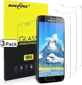 NONZERS Cristal Templado para Samsung Galaxy S7, [3 Unidades ...
