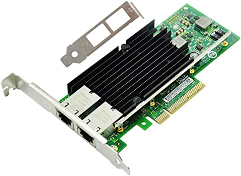 Amazon Com Flybish For Intel X540at2 Chip Pci E X8 10gb Nic Dual Copper Rj45 Port Network Card Pci Express Ethernet Lan Server Adapter Same X540 T2 X540 T2 Computers Accessories