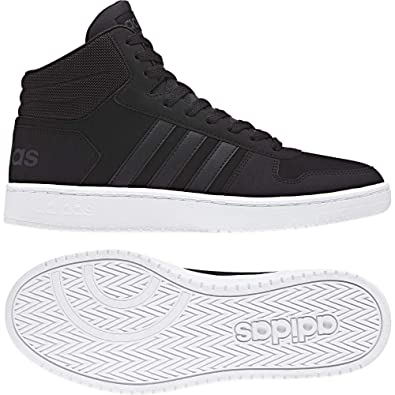 adidas Hoops 2.0 Mid Scarpe da Basket Uomo, Nero Cblack ...