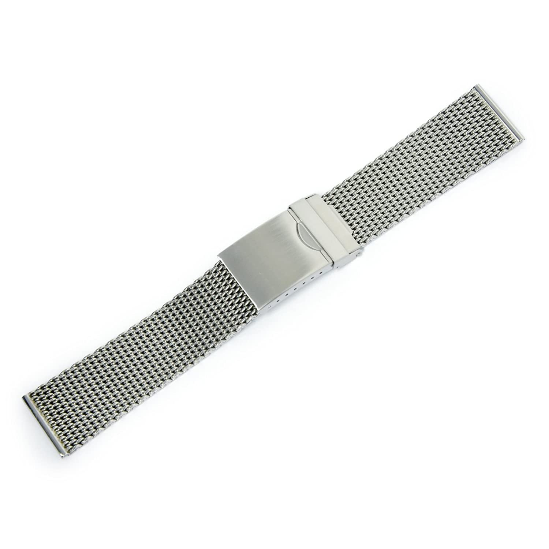 CASSIS[カシス]メッシュ時計バンド Mesh Mirror メッシュミラー 22mm シルバー 交換用工具付き V99462H4022M  B01MUBXJL5