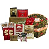 Holiday Wreath of Sweets and Christmas Treats Gift Box