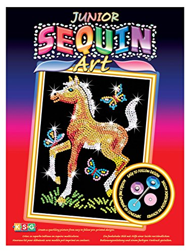 Pin To Foal - Sequin Art Red, Foal, Sparkling Arts and Crafts Picture Kit; Creative Crafts for Adults and Kids