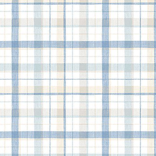 Plaid Wallpaper - Norwall CK36629 Linen Plaid Bolt Wallpaper