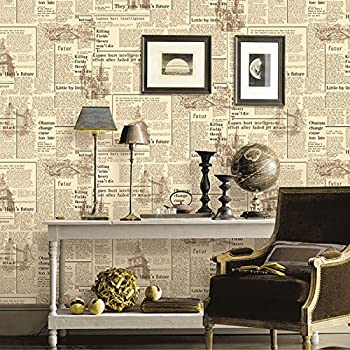 MOOYA Retro Newspaper Style Wallpapers Home Decor for Wall Art PVC Material  20.8