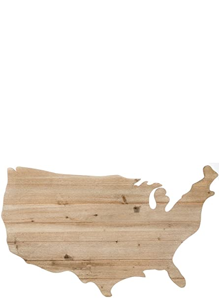 Amazon Com Sullivans N2071 Natural Wood Usa Map Wall Art Decor